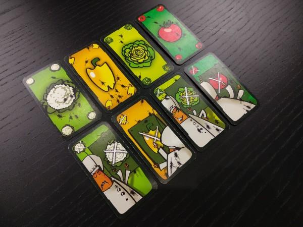 Les différentes cartes du jeu Salade de Cafards