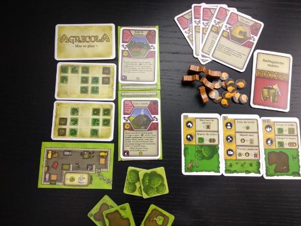 Matériel de l'extension Les Fermiers de la Lande pour le jeu Agricola