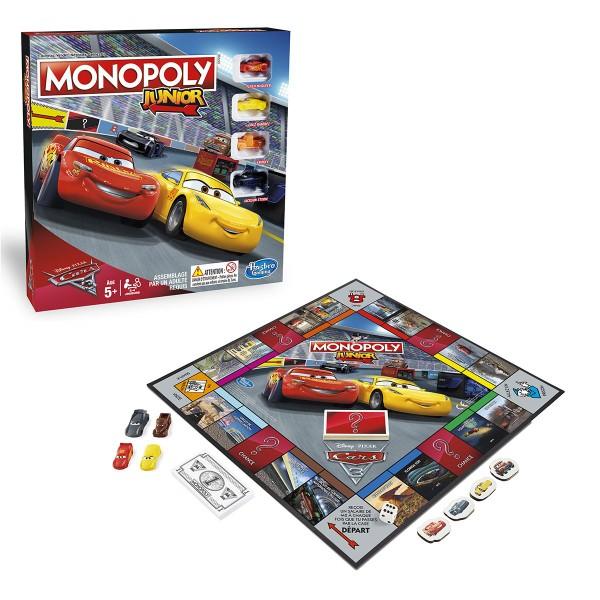 Jeu Monopoly Junior Cars 3