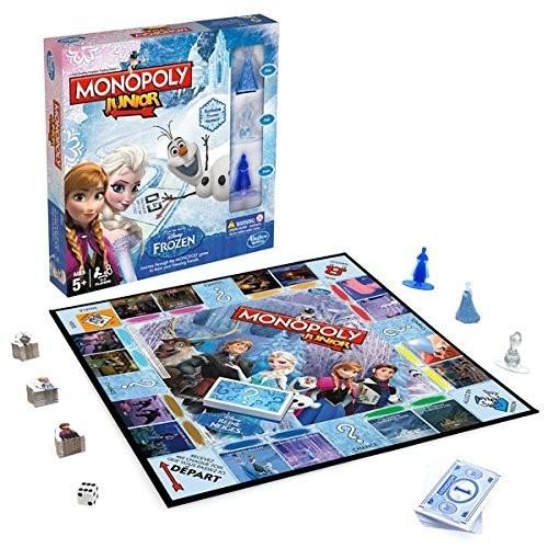 Jeu Monopoly Junior sur le thème de la Reine des Neiges