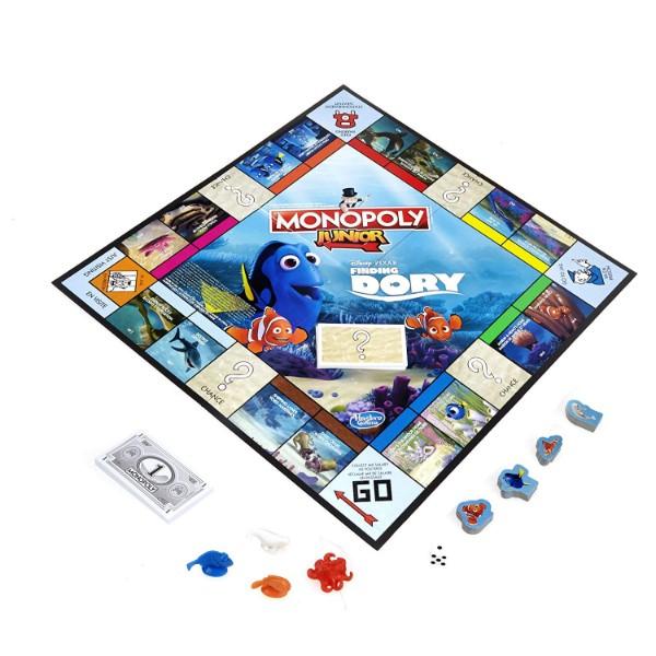 Plateau du jeu Monopoly Junior sur le thème du monde de Dory