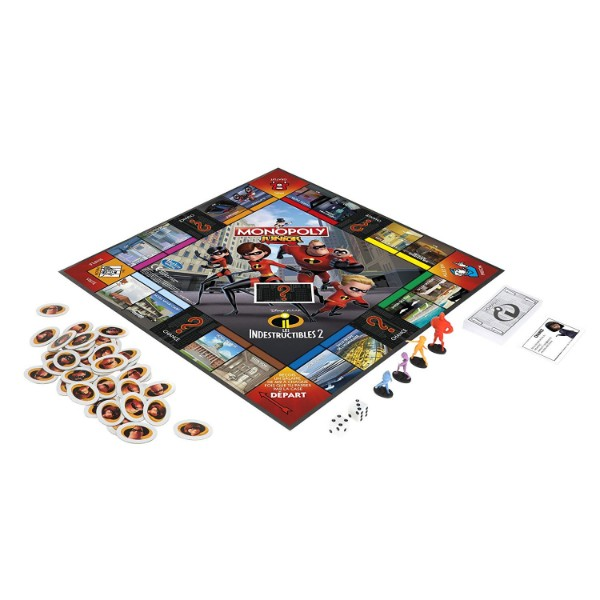 Plateau du jeu Monopoly Junior Les Indestructibles 2