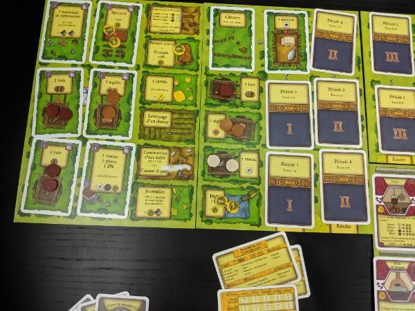 Plateau du jeu Agricola au tour 2 réapprovisionné