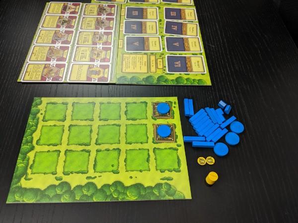 Plateau du jeu Agricola prêt pour débuter une partie