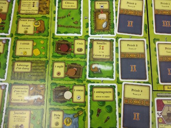 Plateau et cartes du jeu Agricola