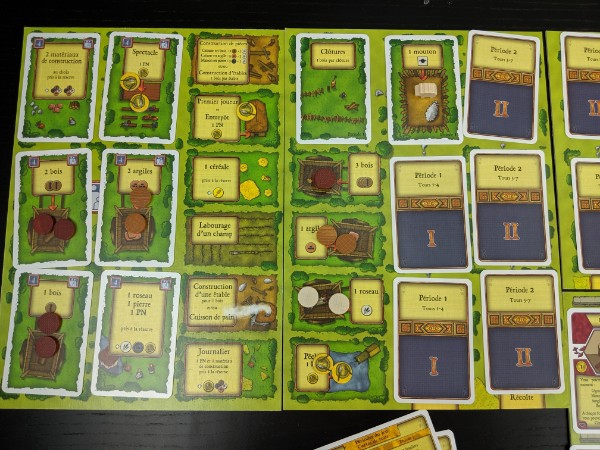 Vue d'ensemble du plateau du jeu Agricola