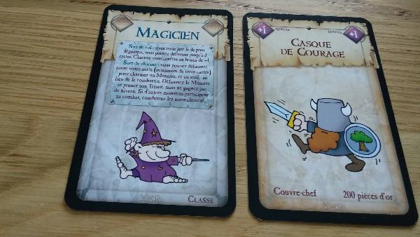 Illustration de l'exemple en début de partie du jeu Munchkin