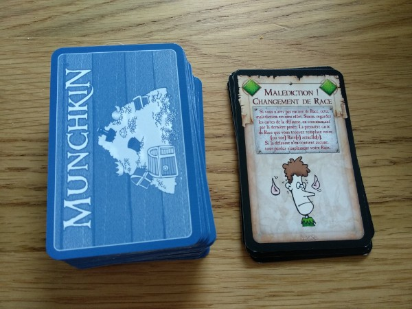Cartes Trésor du jeu Munchkin