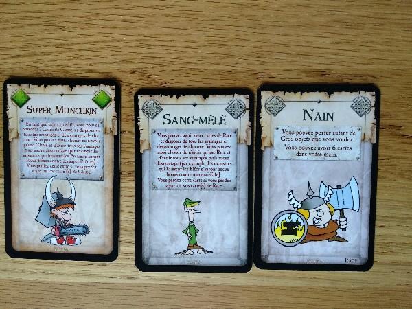 Cartes du jeu Munchkin