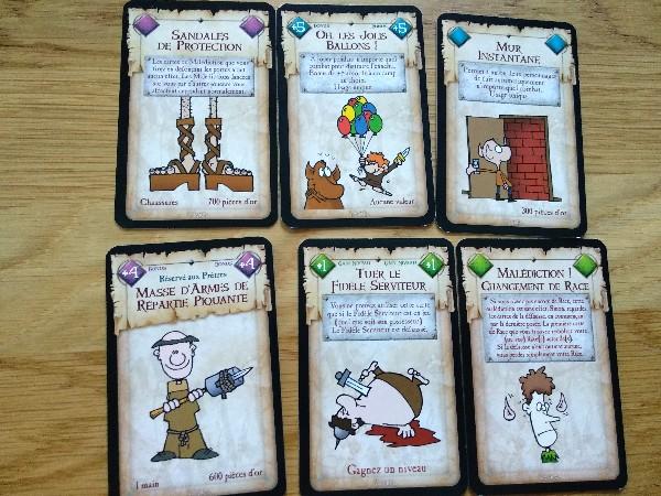 Exemple de cartes du jeu Munchkin