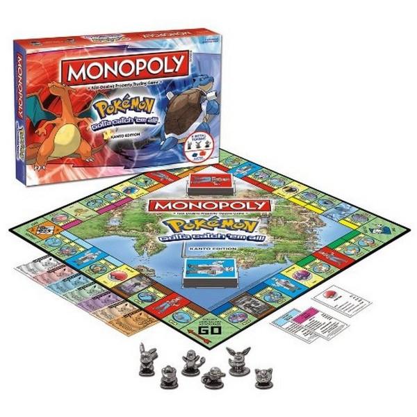 Monopoly version Pokémon sur la région de Kanto