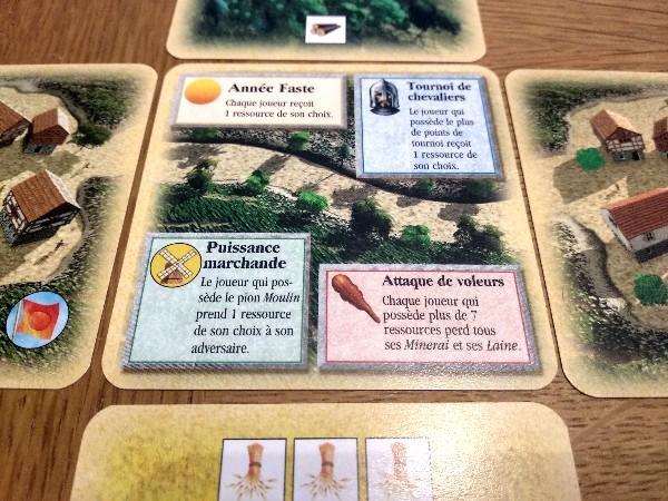 Carte centrale de l'empire du jeu Les Colons de Catane à 2 joueurs