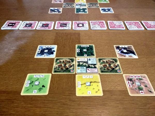 Comment placer les cartes pour le jeu Les Colons de Catane à 2 joueurs