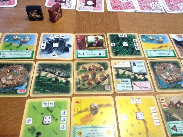 Empire en cours de développement dans le jeu Les Colons de Catane à 2 joueurs
