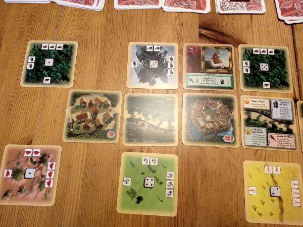Exemple des ressources dans le jeu Les Colons de Catane à 2 joueurs