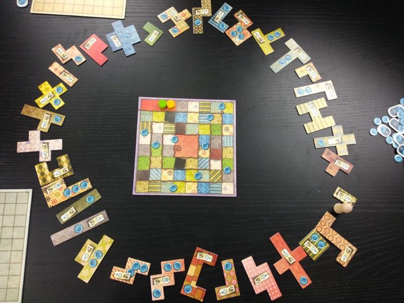 Placement des pièces du jeu Patchwork